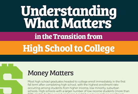 Insights on the High School-to-College Transition