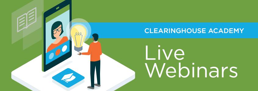 October Schedule of Live Webinars